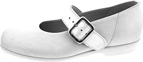 Däumling Kommunionschuhe, Festliche Schuhe, Ballerinas, Größe Mittel 31 perlato weiß