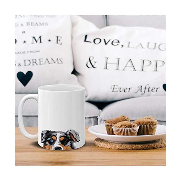 MUGBREW Merle Aussie Australian Shepherd Dog Ceramic Coffee Gift Mug Tea Cup, 11 OZ 5