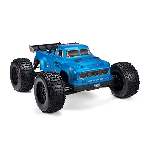 ARRMA Notorious BLX Brushless 4WD RTR Electric RC Stunt Truck (LiPo Battery Required), 1:8 Scale (Blue)