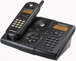 Motorola MA580 5.8 GHZ Analog Cordless Phone w/Caller ID, Speakerphone & Digital Answering - Cordless Phone Caller Id Ghz