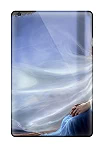 New Snap-on Skin Case Cover Compatible With Ipad Mini- Girl In Blue Dress Fantasy Women Abstract Fantasy 7620572I72018436