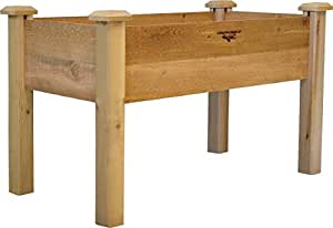 Gronomics REGB 24-48 24-Inch by 48-Inch by 32-Inch Rustic Elevated Garden Bed, Unfinished
