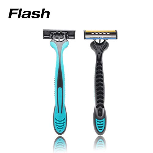 FLASH Disposable Razors - 20 pack - Three Blades Triple Action- Lubricating Strip with Aloe