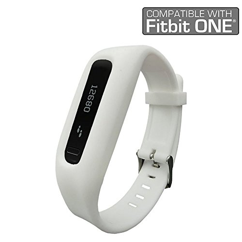 Fitbit One Band/Fitbit One Clip, HWHMH Replacement Band/Replacement Clip Holder for Fitbit One (No tracker) (White)