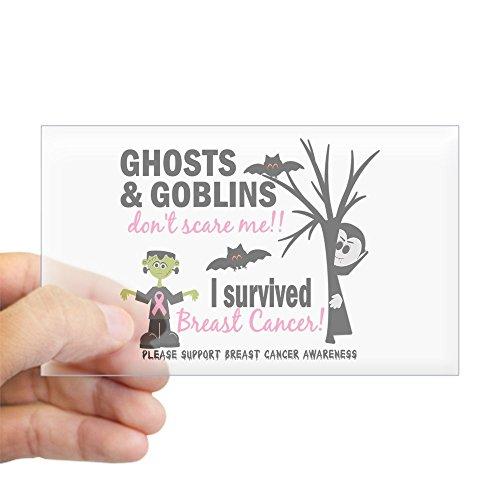CafePress Halloween 1 Breast Cancer Sticker (Rectangle) Rectangle Bumper Sticker Car Decal]()