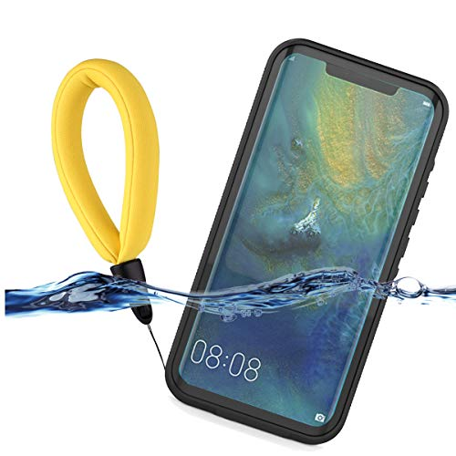 LifeePro Compatible with Huawei Mate 20 Pro Waterproof Case, IP68 Certified Waterproof Cover Shockproof Dustproof Scrach Resistant 360 Protection Full Seal Underwater Case with Screen Protector Black