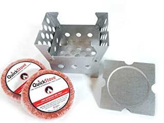 Natural Waterproof Survival & Camp Fuel Disk Fire Starters - 3 Month Supply - 108 count - 54 hour burn time - Made of Cedar & Wax - Perfect for camping, hiking & emergency preparedness by QuickStove (B00C7CE35W) | Amazon price tracker / tracking, Amazon price history charts, Amazon price watches, Amazon price drop alerts