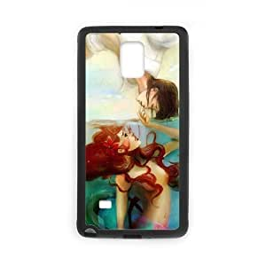 Samsung galaxy note 4 N9100 Little mermaid Phone Back Case DIY Art Print Design Hard Shell Protection FG084547