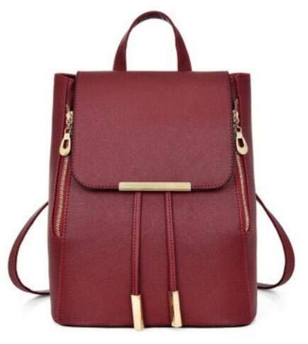 Amazon.com: DingXiong Women Backpack PU Leather Mochila Escolar School Bags for Teenagers Girls Top-Handle Backpacks GW096: Garden & Outdoor