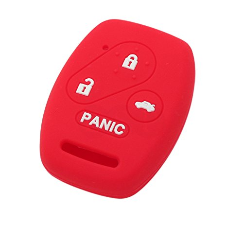 SEGADEN Silicone Cover Protector Case Skin Jacket fit for HONDA 3+1 Button Remote Key Fob CV2206 Red