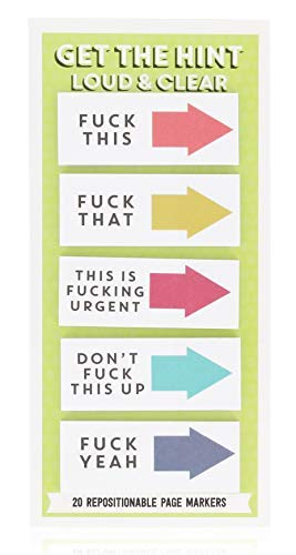 NPW-USA-USA Loud and Clear Get The Hint Sticky Note Tags