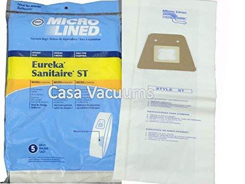 40 Eureka Sanitaire Type ST Vacuum Bags, Express, Home Cleaning System 63213, 63213A, 63213-g5, 63213-10, S670D, S677D, SC678A, SC883A, SC888J, EUR 678, EUR 688, EUR 888 (System Sanitaire)