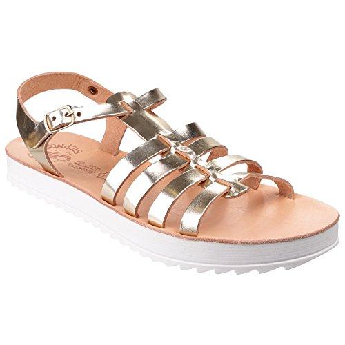Sandalias para verano modelo Omfon para mujer Oro