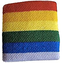 Gay Pride Rainbow Wristband (Stretchy Exercise / Sport Bracelet) - LGBT Gay & Lesbian Pride Acessories