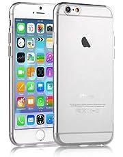iPhone 6 6S Kılıf Kapak 0.2 mm Şeffaf Silikon + Temperli Kırılmaz Cam Ekran Koruyucu