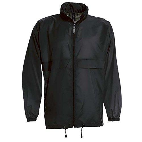(B&C Sirocco Mens Lightweight Jacket/Mens Outer Jackets (3XL) (Black))