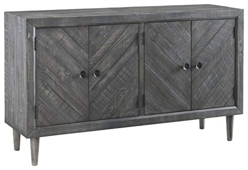 Dining Room Buffets Sideboards - Signature Design by Ashley D568-60 Besteneer Dining Room Server Dark Gray