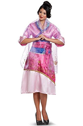 Mulan Halloween Costume (Disguise Women's Mulan Deluxe Adult Costume, Pink, XL)