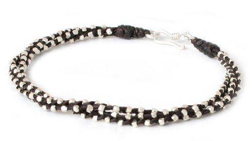 """NOVICA .925 Sterling Silver Accent Braided Bracelet, 7.75"""", Hill Tribe Dreams"""
