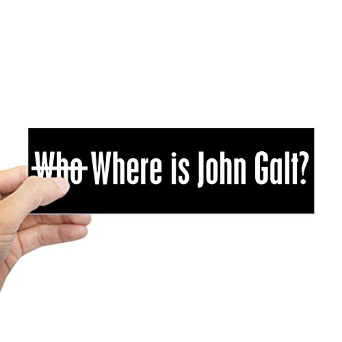 CafePress - Who Where is John Galt Bumper - Where Is Rand