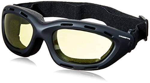 Yellow Amber Cross - Crossfire 91353AF Element Safety Goggles Yellow Anti-fog Lens - Frame