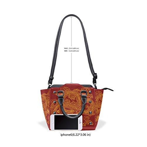 Drache Chinesischer leder Sushi Frauen Crossbody Handtasche Griff COOSUN Pu Umhängetaschen Top Tasche Tote Mit 6xWUwTn