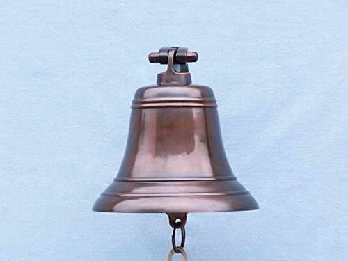 Hampton Nautical 3xglass-101 Antiqued Copper Hanging Ships Bell 9