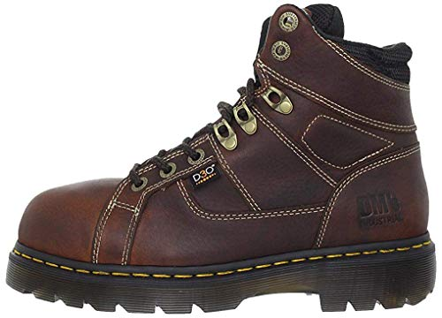 Dr. Martens Men's Ironbridge Steel IM Boot,Teak/Black,6 UK/7 M US