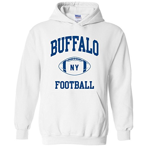 Buffalo Classic Football Arch American Football Team Sports Hoodie - Large - ()