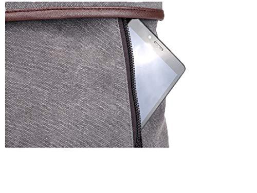 Tclothing porté Sac à dos Gris Gris femme pour gris au main tOtrZW4Uq