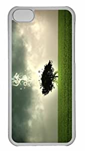 Customized iphone 5C PC Transparent Case - Tree Design Personalized Cover