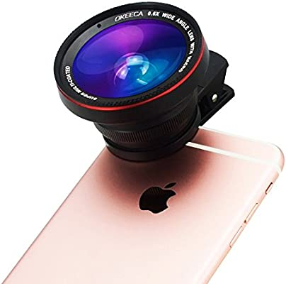 OKEECA 3 in 1 Universal Clip-on Cell Phone Camera Lens Kit 37MM ...