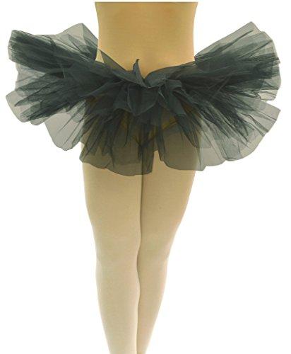 Dancina Tutu Adult 5K, 10k, Fun Color Dash Run Cute 5 Layer Organza Mini Skirt Short 10