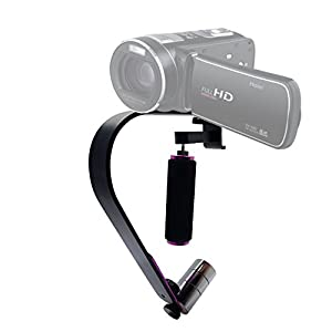 Mcoplus HS-P1 Mini Handheld Camera Stabilizer Video Steadycam System for DSLR Cameras, Small camcorders, SLR cameras, Phones, GoPro With Three Pieces Gyro and Phone Holder up to 1kg (2.2lbs)