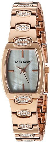 Anne Klein Women's AK/2784MPRG Swarovski Crystal Accented Rose Gold-Tone Bracelet Watch