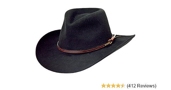 876e8e87 Amazon.com: Stetson Men's Bozeman Wool Felt Crushable Cowboy Hat -  Twboze-813007 Black: Clothing