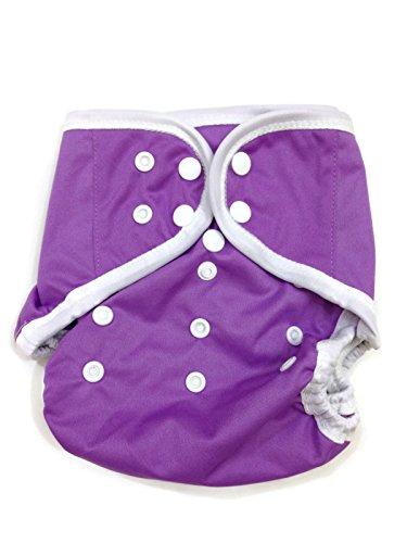 BB2 Baby One Size Solid Happy Leak-free Snaps Cloth Diaper Cover for Prefolds (One Size, Purple)