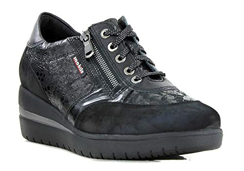 Mephisto Womens Lace - Mephisto Mobils Patrizia Black Leather lace Shoe for Women with Wide FEET (8(UK) 10.5(US))