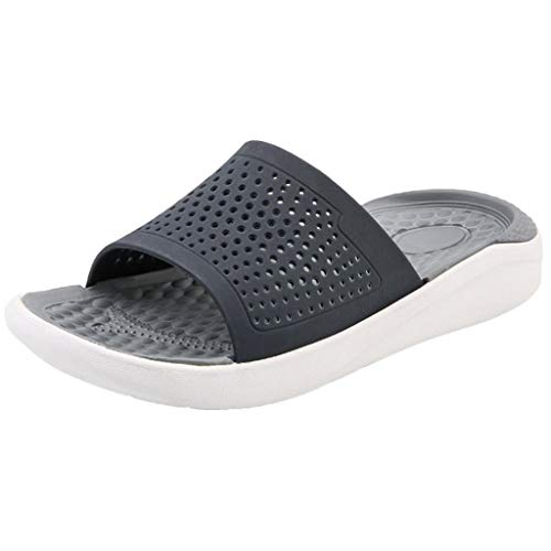 Mens Beach Sandals Hollow Out Casual Breathable Slippers Flats Shoes