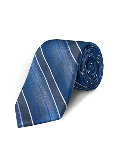 Origin Ties Mens Fashion Striped Skinny Tie 3 Inches Navy Silk Textured ()