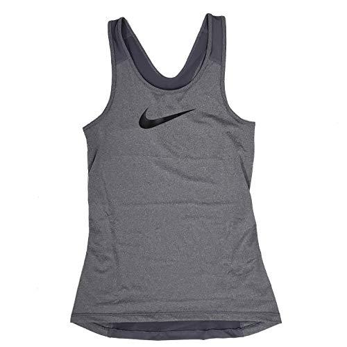 Nike Pro Women's Training Tank Top Medium Polyester Grey 849986 021 (l) (Workout Nike Tanks Women)