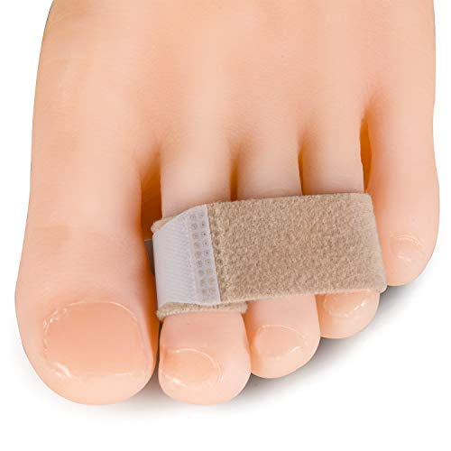Welnove Toe Splint Wraps, 10 Pack Toe Brace Splint for Hammer Toes(Upgrade Version), Cushioned Fabric Bandage as Toe Protection for Separator Splints (Best Treatment For Broken Toe)