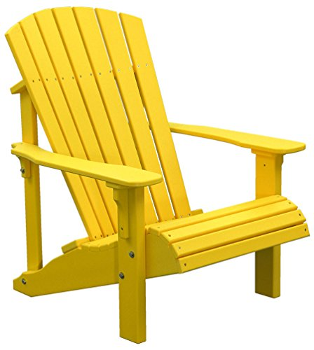 Outdoor Poly Deluxe Adirondack Chair-Yellow Color