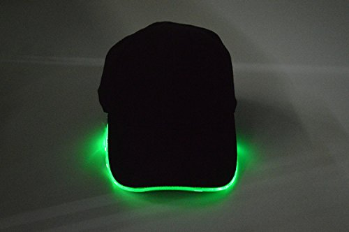 beanie algodón hat Navidad Negro hat sombreros baseball verde de fibra tapa Baseball hat Halloween Green MASTER luminosa lanza pato Luz 4wtxqP5Yn0