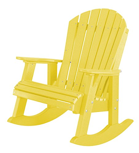 Little Cottage Company Heritage High Fan Back Rocker, Lemon Yellow