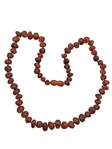 Raw Baltic Amber Adult Necklace- Raw Cognac Color - 18 inches long - Anti-inflammatory - Natural Pain Relief for Carpel Tunnel, Arthritis, Sinus Pressure, Headaches and (Long Baltic Amber Necklace)