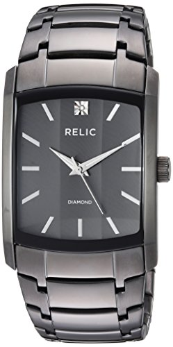 Mens Diamond Accent Watch - Relic Men's Raymond Quartz Stainless Steel Diamond Accent Watch, Color: Grey (Model: ZR77293)