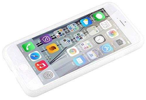 Apple iPhone 6s 6 Case, Fone-Stuff® - couverture de peau de gel de silicone Full Body avec See Through Screen Protector Flip touchables Wallet Blanc