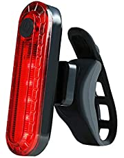 Hakea Volcano Super Bright LED Rear Bike light - USB Rechargeable - Back Mount - Red Tail light - Waterproof- High Lumens - Easy to Install - 4 modes selection - Li-ion Battery - up to 12 hours battery time - fits on any bike with 12-32 mm diameter - Bike Light
