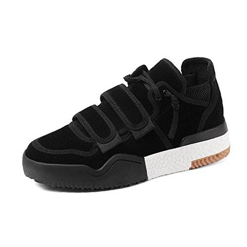 HWF Zapatos para mujer Zapatos de deportes de primavera Zapatos de mujer de fondo grueso Zapatos casuales Mujeres ( Color : Negro , Tamaño : 39 ) Negro